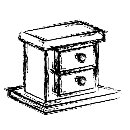 Wooden box drawer icon vector illustration graphic design