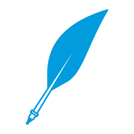 Pen feather isolated icon illustration graphic design.