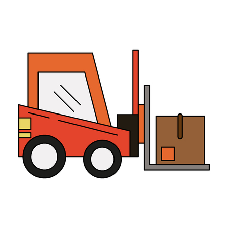 forklift with box icon image vector illustration design  Illustration