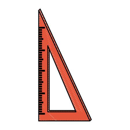 ruler measuring icon image vector illustration design Illustration