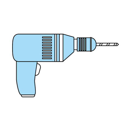 box cutter: electric drill tool icon image vector illustration design Illustration