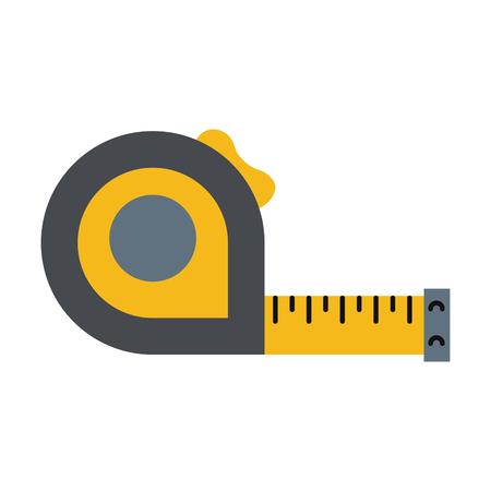 measuring tape tool icon image vector illustration design