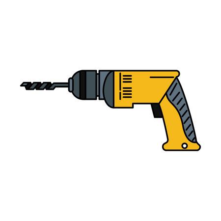 elektrisch boor gereedschap pictogram afbeelding vector illustratie ontwerp