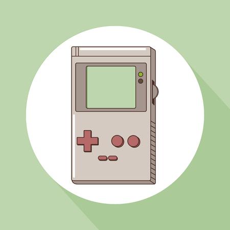 Tetris videogame vintage over white background vector illustration