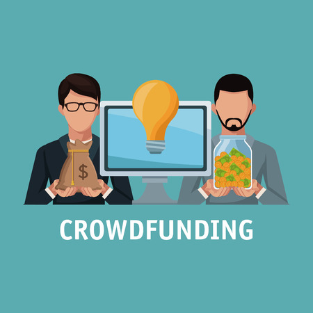 Crowfunding and business icon vector illustration graphic design