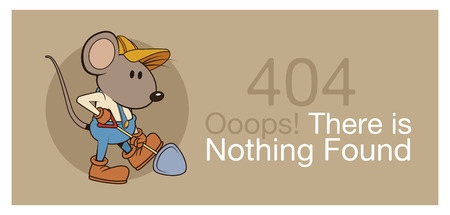 error 404 with funny mouses banner icon vector illustration graphic design Çizim