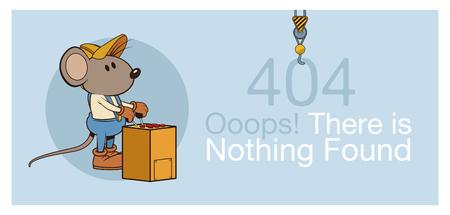 fout 404 met grappige mouses banner pictogram vector illustratie grafisch ontwerp