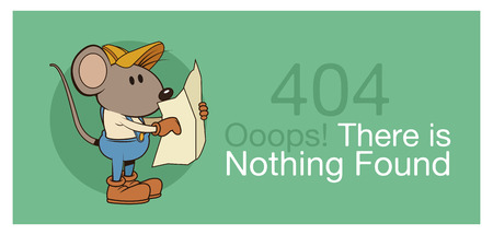 error 404 with funny mouses banner icon vector illustration graphic design Illustration