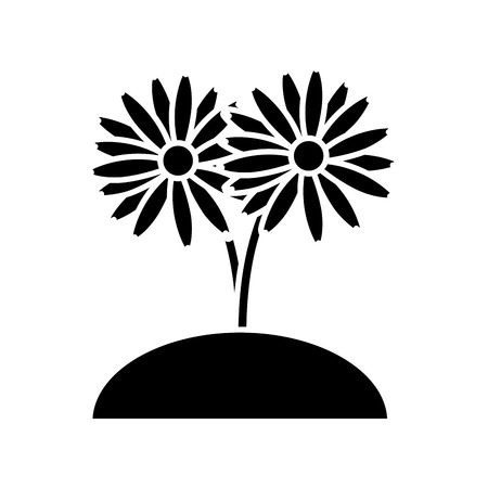 Beautiful planted flowers icon vector illustration graphic design