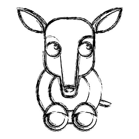 Anteater animal cartoon icon vector illustration graphic design