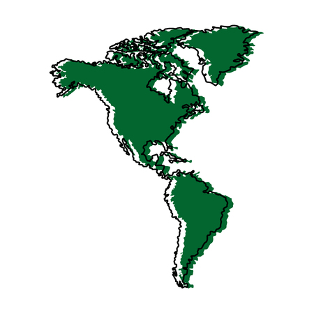 north and south america map background vector illustration