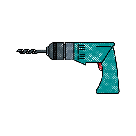 Electric drill tool icon