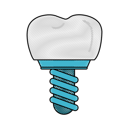 odontology: Tooth implant odontology icon