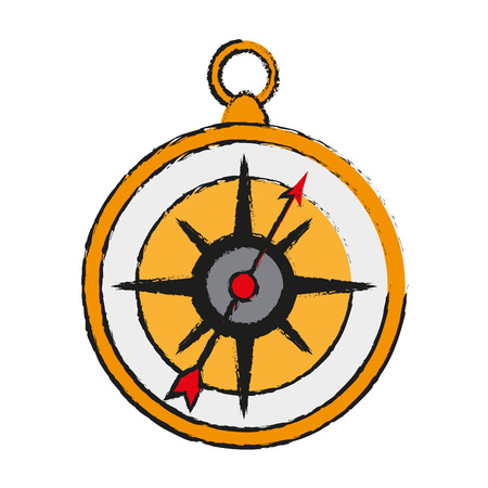 Navigation compass isolated icon vector illustration graphic design