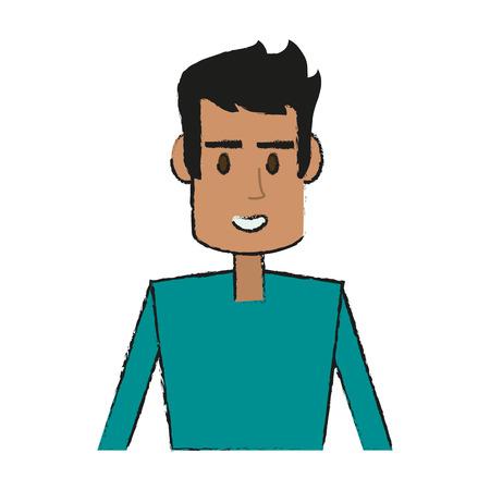 Guy face cartoon icon vector illustration graphic design Illustration