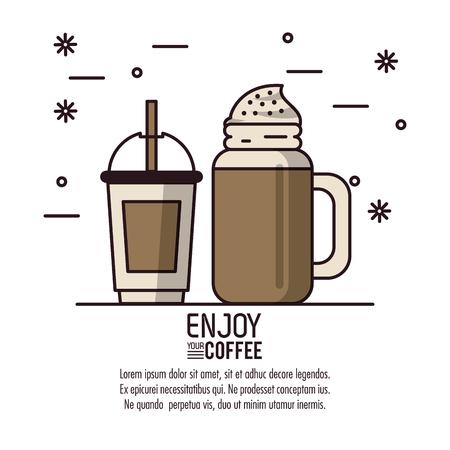 Coffee drink infographic icon vector illustration graphic design