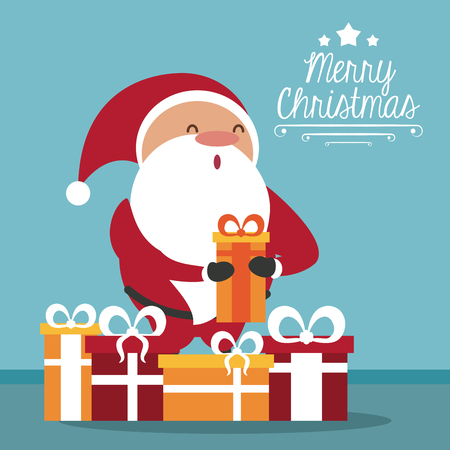 merry christmas cute card icon vector illustration graphic design stock vector 85440483