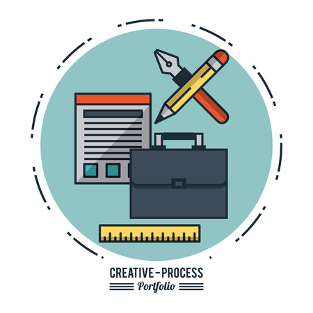 Creative process infographic icon vector illustration graphic design