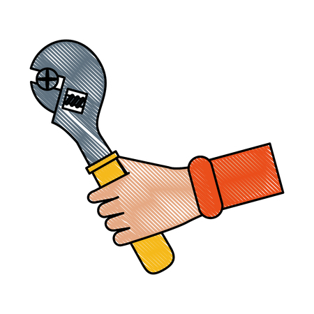 Wrench tool icon. Illustration