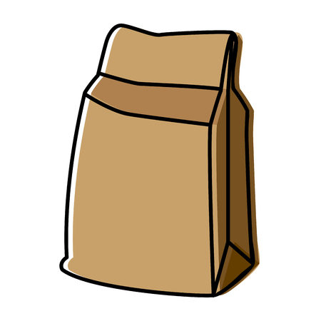 pouch: paper food bag icon vector illustration graphic design