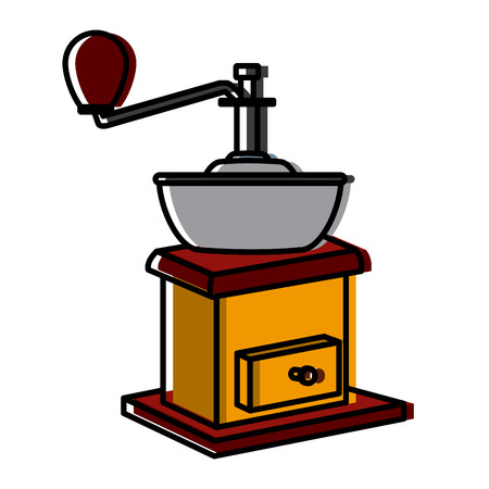 manual coffee grinder icon vector illustration graphic design