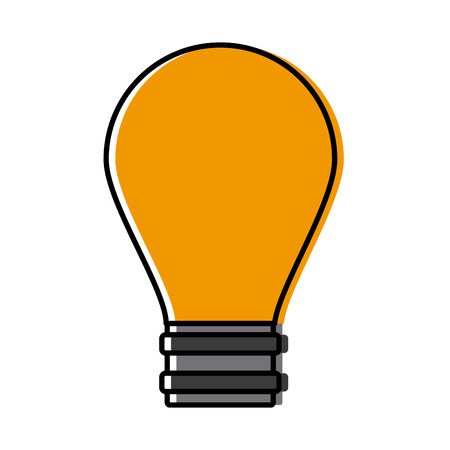 bulb electric light icon vector illustration graphic design