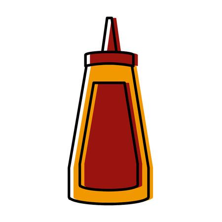 van de de pictogramvestateur van de saus het plastic fles grafische illustratieontwerp