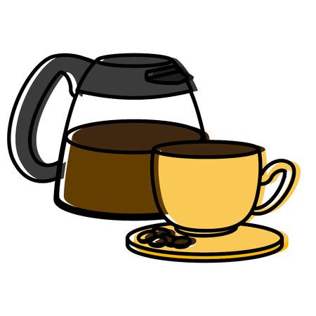 coffee maker cup icon vector illustration graphic design