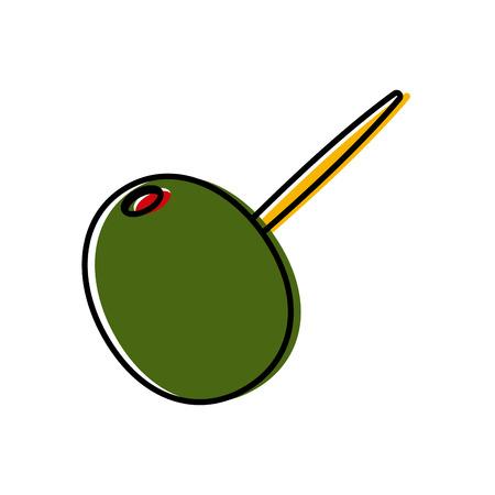 stuffed olive skewer icon vector illustration graphic design