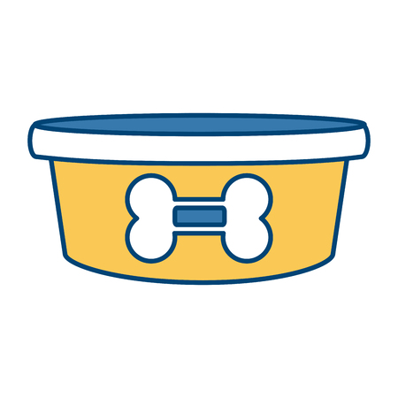 dog bowl bone icon vector illustration graphic design
