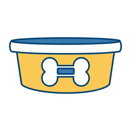 Hundeschüsselknochenikonenvektor-Illustrationsgrafikdesign