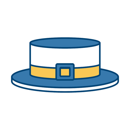 old english: ribbon men hat icon vector illustration graphi design Illustration