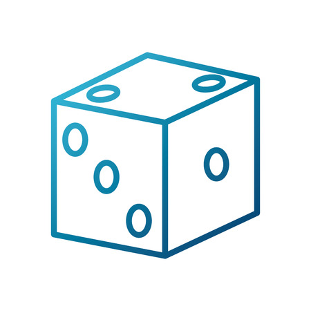 six objects: chance lucky dice icon vector illustration graphic design Illustration