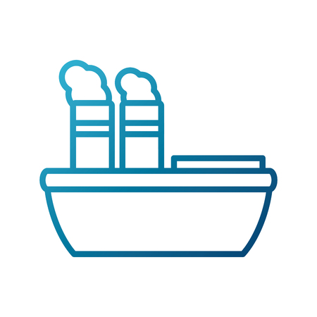 steam boat ship icon vector illustration graphi design Иллюстрация