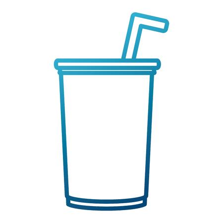condensation: soda paper cup icon vector illustration graphic design