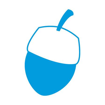 Nut natural snack icon vector illustration graphic design