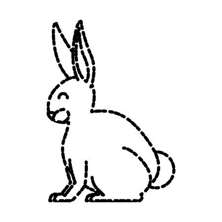 lapin: Rabbit animal cartoon icon vector illustration graphic design Illustration