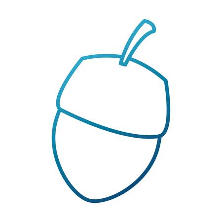 너트 자연 스낵 아이콘 벡터 일러스트 그래픽 디자인