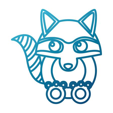 Racoon animal cartoon icon vector illustration graphic design Illustration