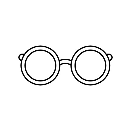 smart boy: Vintage fashion glasses icon vector illustration graphic design