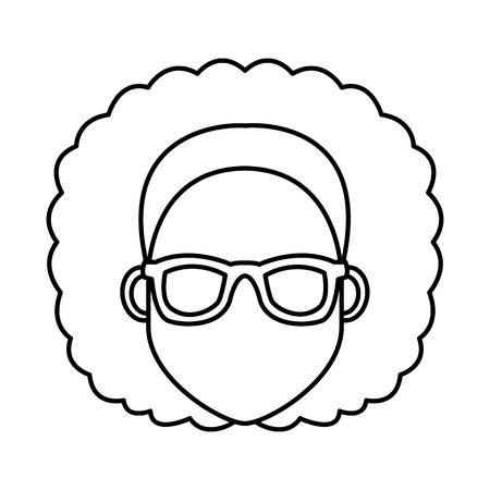 1 313 man hair afro stock illustrations cliparts and royalty free Long Hairstyles young woman cartoonwith sunglasses icon vector illustration graphic design