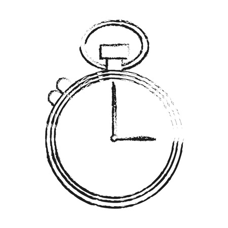 sports equipment: analog chronometer icon image vector illustration design  sketch style Illustration