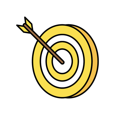 advantages: dart on bullseye icon image vector illustration design Illustration