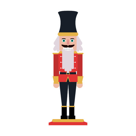 nutcracker toy christmas related icon image vector illustration design