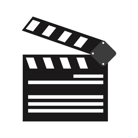 film industry: clapperboard cinema icon image vector illustration design Illustration