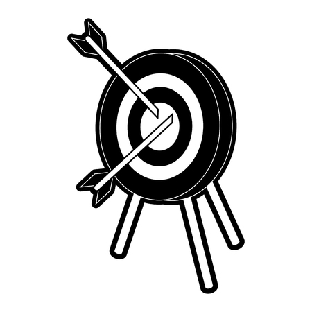 advantages: darts on bullseye icon image vector illustration design  black and white
