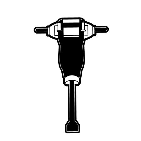 油圧ブレーカー建設関連アイコン画像ベクトル イラスト デザイン