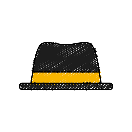 old english: Vintage hat isolated icon vector illustration graphic design Illustration