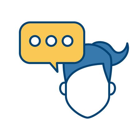 communication cartoon: Chat bubble symbol icon vector illustration graphic design Illustration