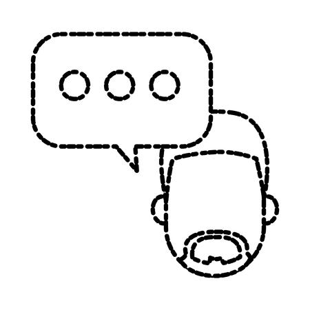 smart boy: Chat bubble symbol icon vector illustration graphic design Illustration